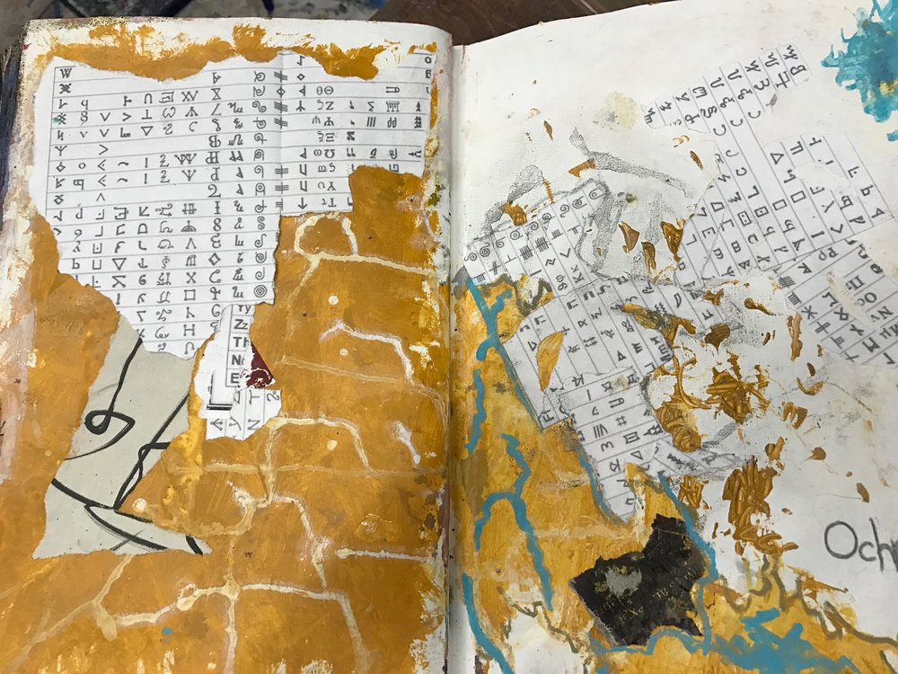 Art journaling Symbols and Magik -2016