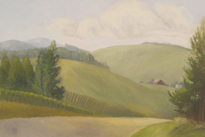 "Morning Vineyard | 24""x36"""