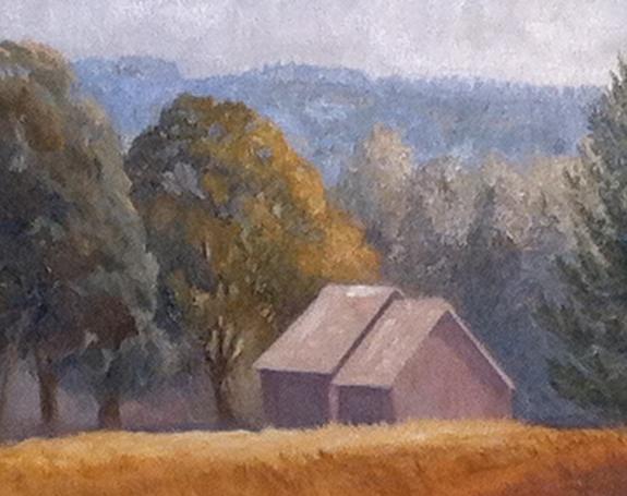 "Two Barns with Ridge | 16""x20"""
