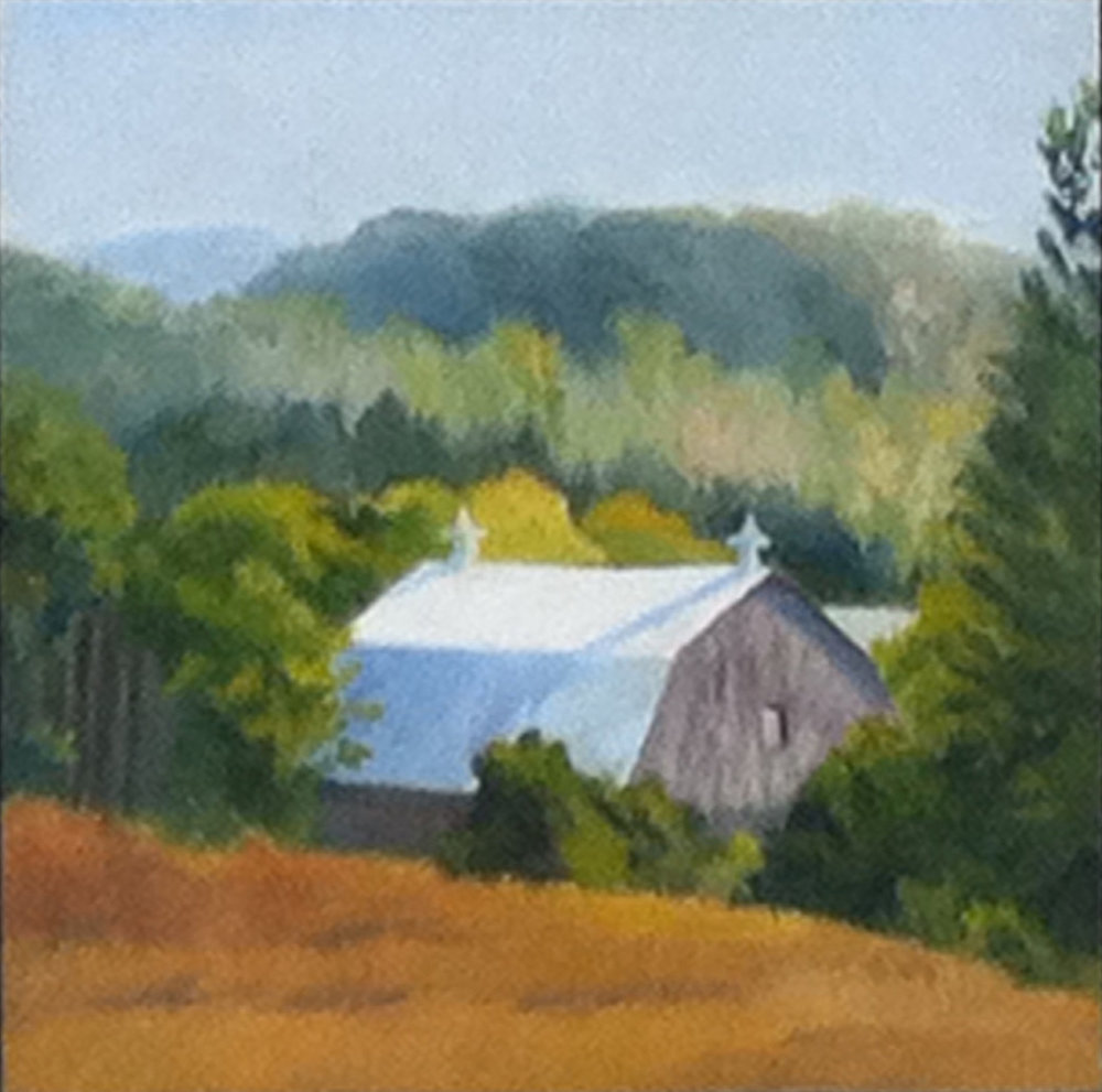 "Barn with Cupolas | 12""x12"""