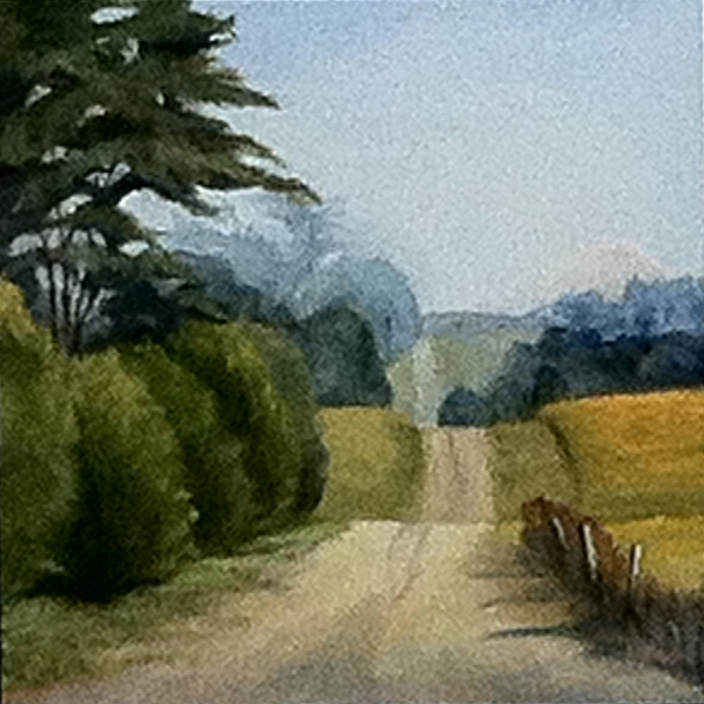 "Road with Fence Posts | 12""x12"""