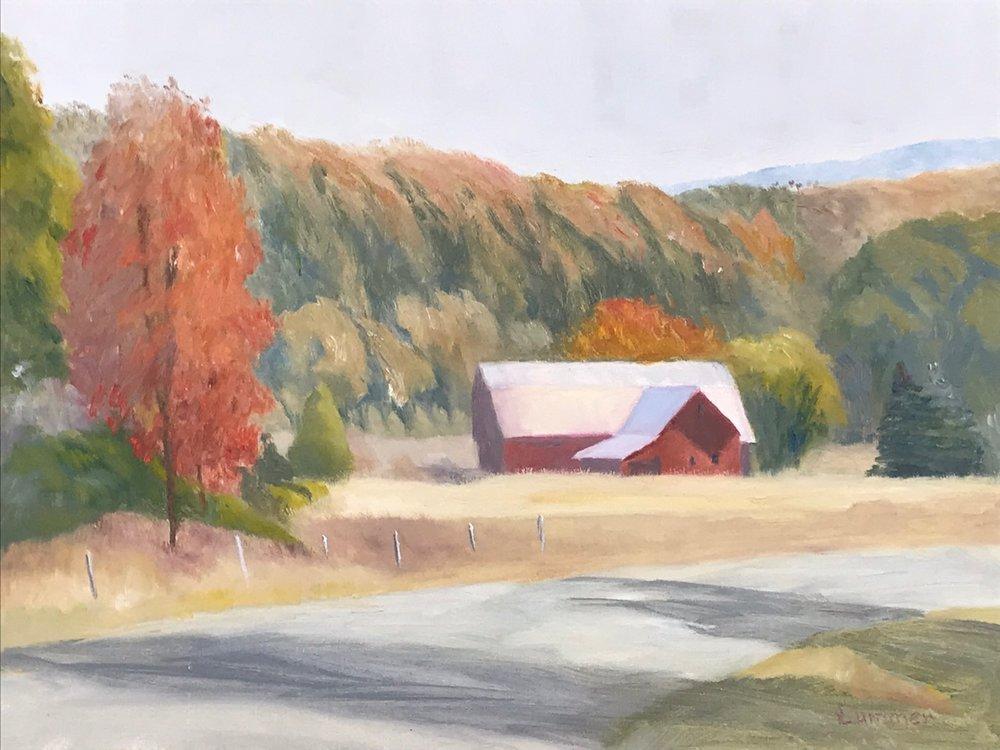 "Red Barn | 12""x16"""