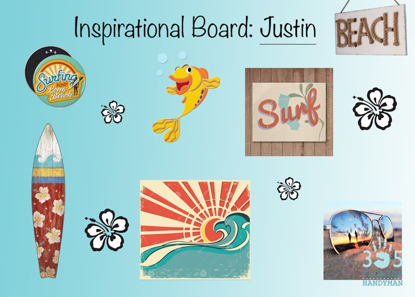 Inspirational Board for surfing wall mural