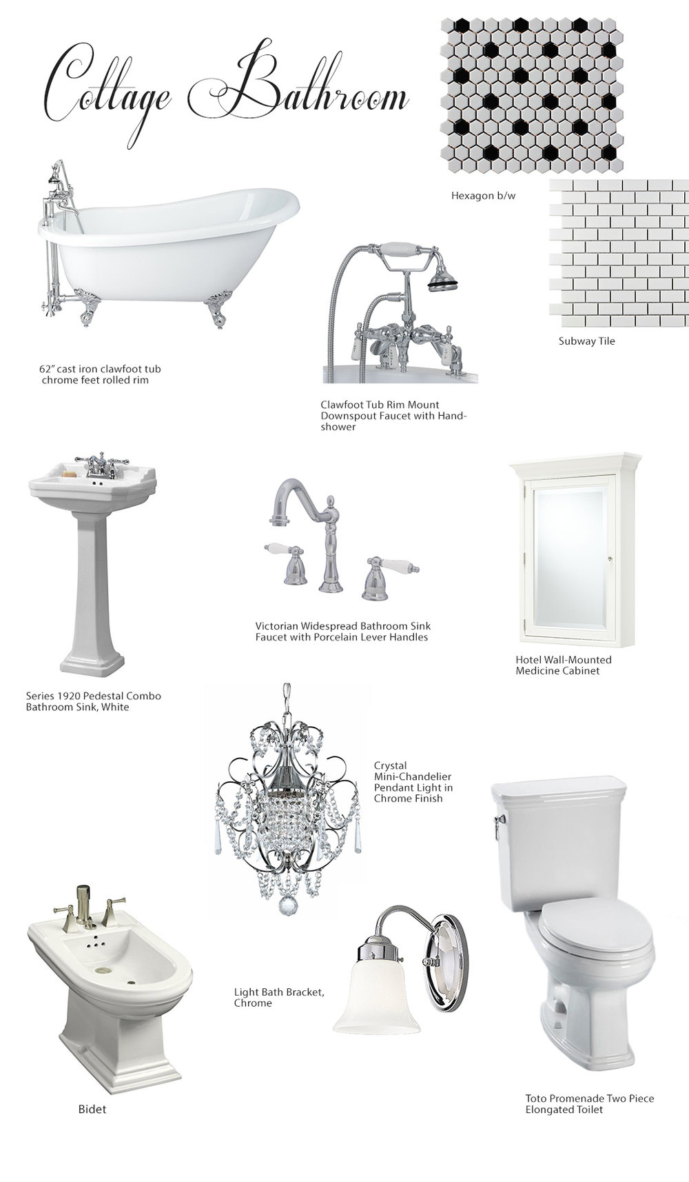 Bathroom Design Board miami bathroom remodeling: cottage bathroom mood board
