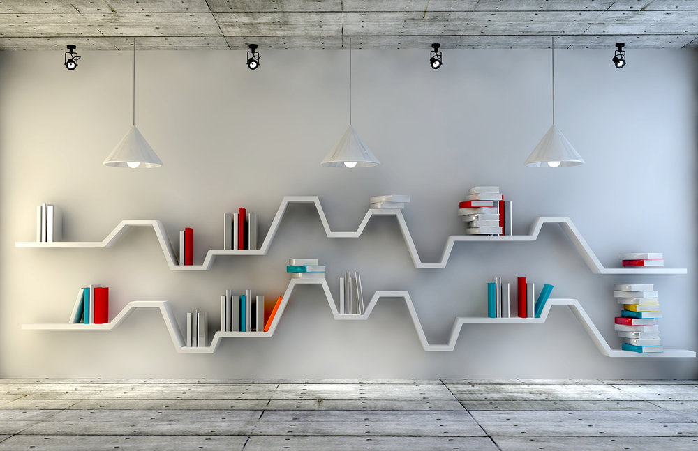 Bookshelves make a great wall decor.