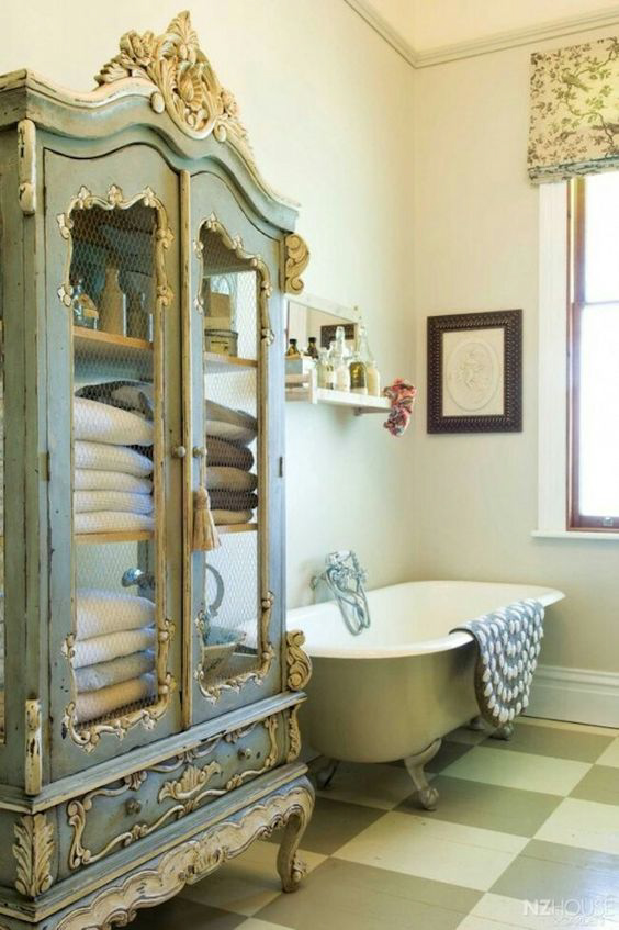 Antique and well-made reproduction pieces in particular add originality and elegance to any stylish bathroom.