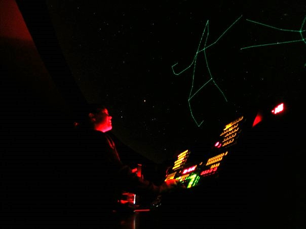 At the helm of the Planetarium show - 2008