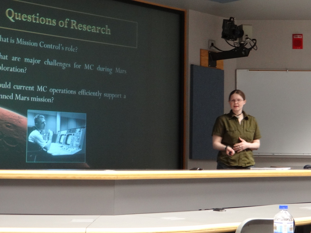 Presenting my research in 2012