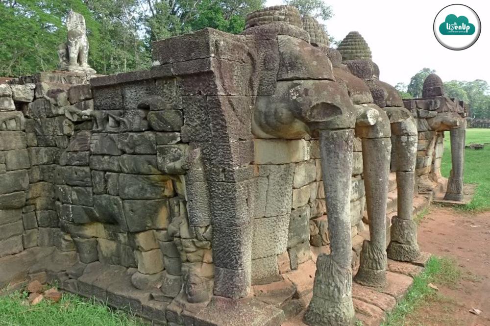 Terrace of elephants, angkor wat, cambodia