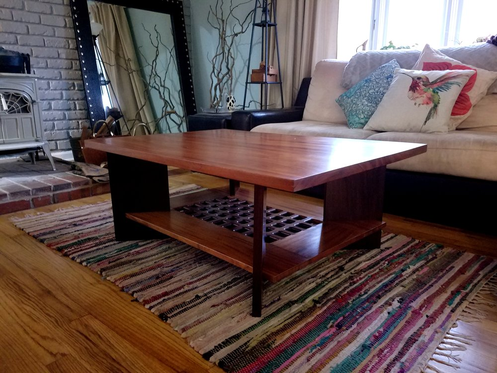 frank lloyd wright inspired coffee table.