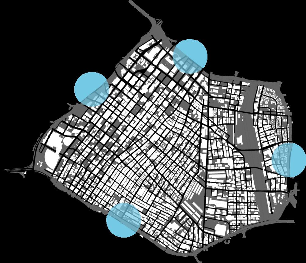 Perimeter mobility hubs.