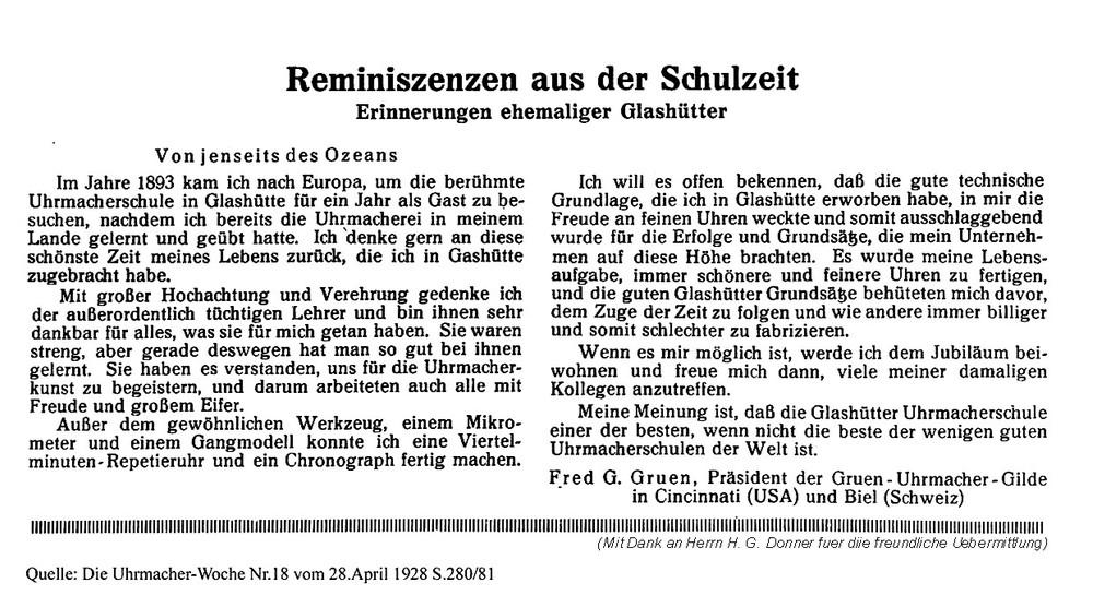 Photo courtesy of H. G. Donner    http://www.glashuetteuhren.de/