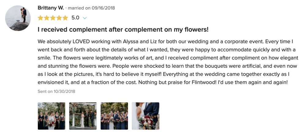 This client loved us so much she used us for her wedding too!