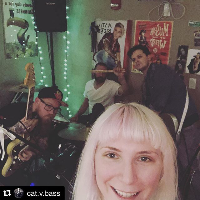 Baby baby baby ohhhhh. See you Saturday at @opus.underground #Repost @cat.v.bass with @get_repost ・・・ @salemwolves #bandpractice for our gig Saturday night at @opus.underground