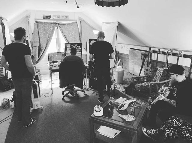 Studio daze. New songs coming soon. #annolupus