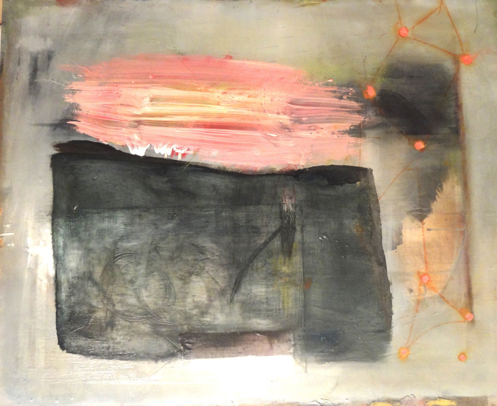 Shape Shifting painting at Mark Woolley Gallery 2016