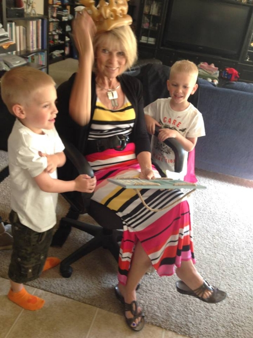 Linda and boys on her birthday July 2015.jpg