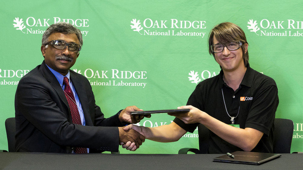 Our CEO Jason Miller somethin somethin partnership with Oark Ridge National Laboratory.
