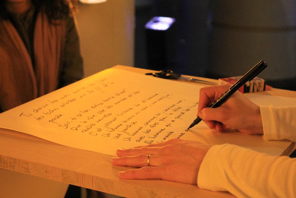écriture en cours ((c) Alix Desforges)