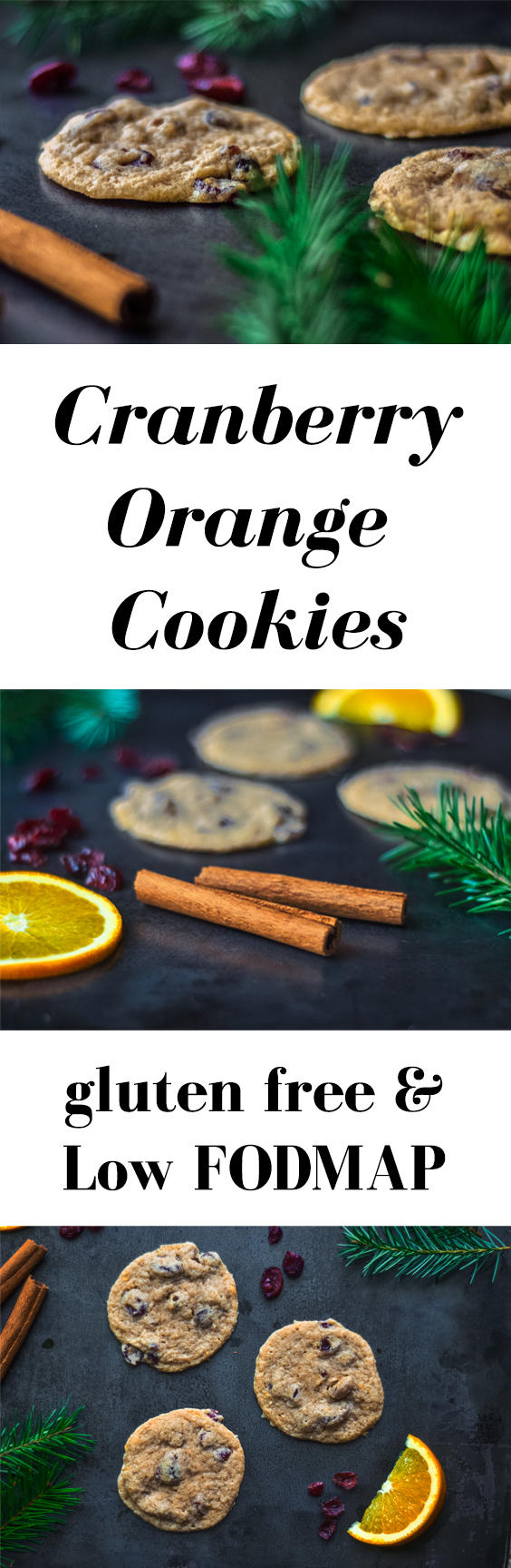 If you were to imagine what Christmas tastes like in the form of a cookie, then this recipe creates just that! Cranberries, orange and cinnamon work in sweet festive harmony. Perfect for holiday cookie exchanges and Valentine's Day.  // Gluten free cookies, healthy cookies, low fodmap cookies