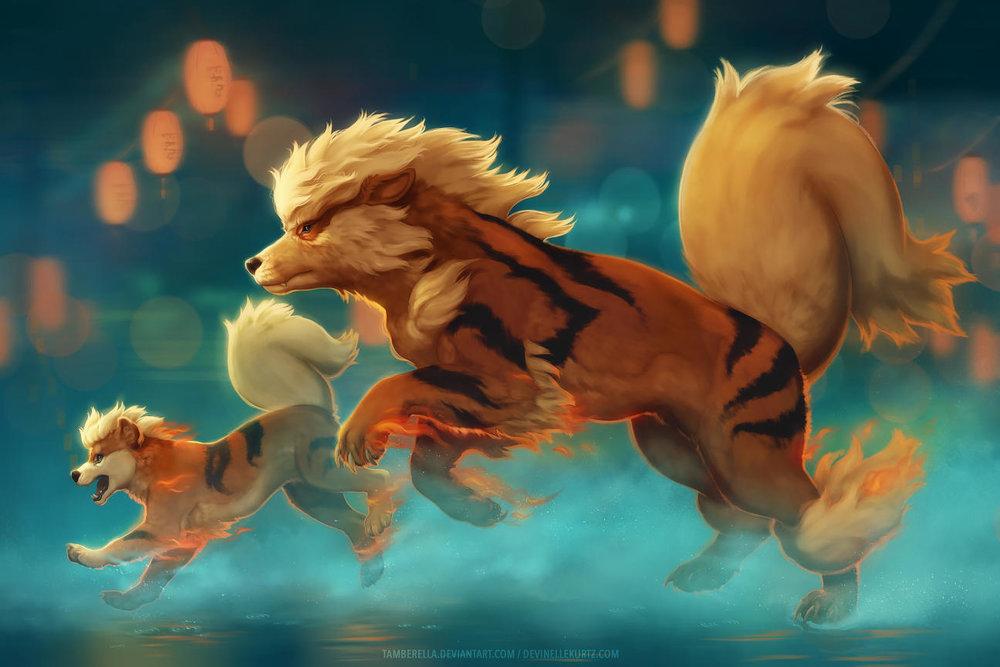 Arcanine Running (Fanart)