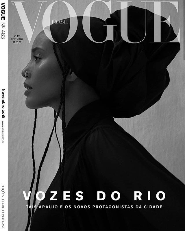 Táis Araújo will be on the November cover of Vogue Brasil. Táis is a model - fashion and role, actress, and activist. She has a long list of awards and accolades. In July 2017, the UN Women Brazil appointed her Defender of Rights of Black Women. . . . . . . #panafrique #panafrican #artist #art #blackisbeautiful #brasil #afropolitan #afro #melaninpoppin #melanin #vogue #orgulhonegro #fashion #buyblack #blackmodel #RepresentationMatters #femmenoire #belezanegra #crespa #cacheadas #blackcreatives #afrolatina #sernegroeshermoso #melanine #melanina