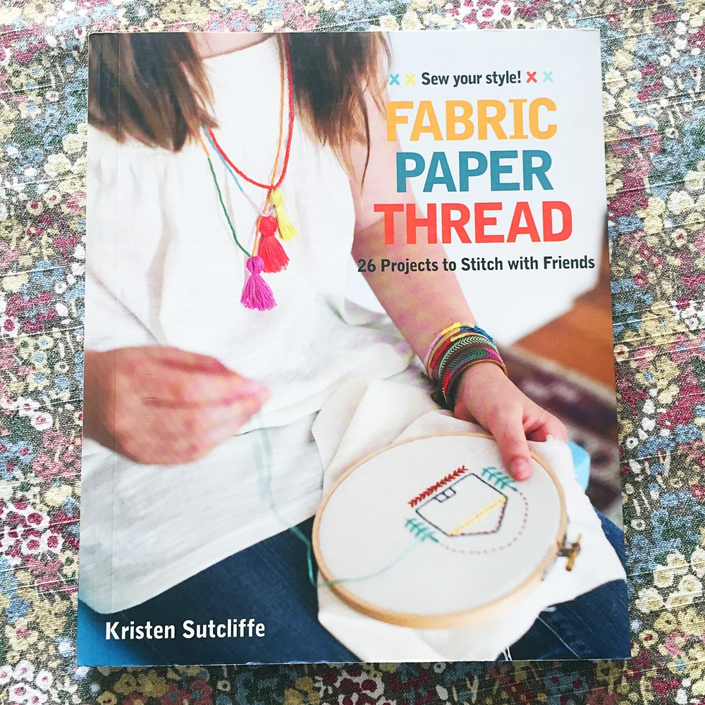If you want to freshen up on your embroidery stitches, here's a  fun book  with great illustrations.