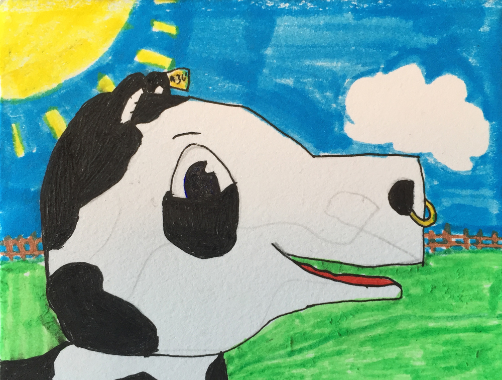 Emma's Cow Drawing
