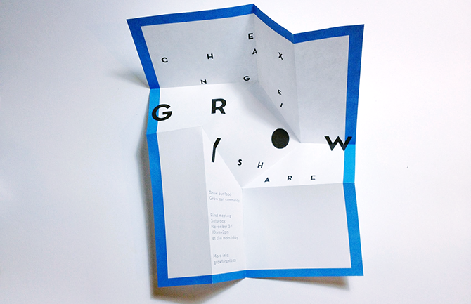 GROW Invitation Flyer / Opened