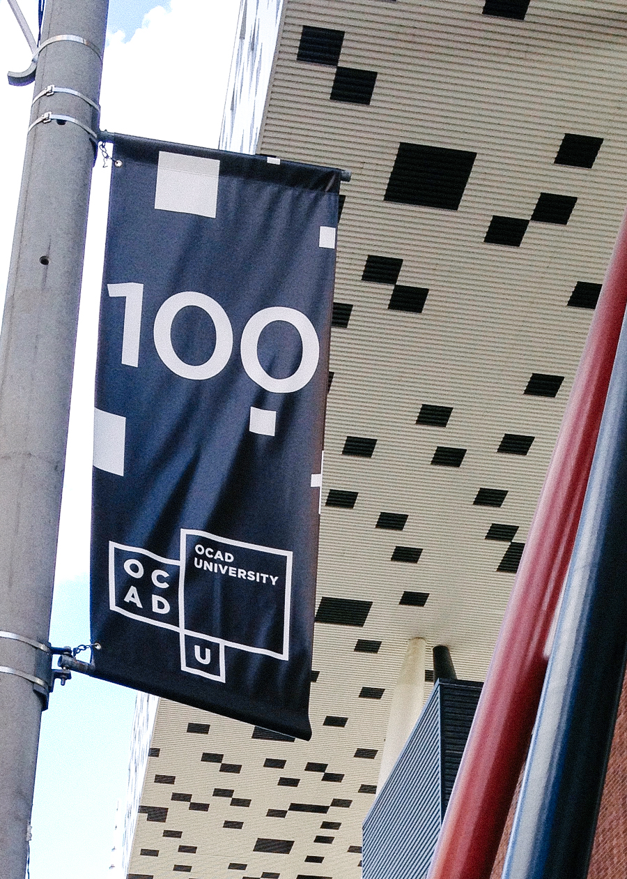 OCAD University Wayfinding Flag
