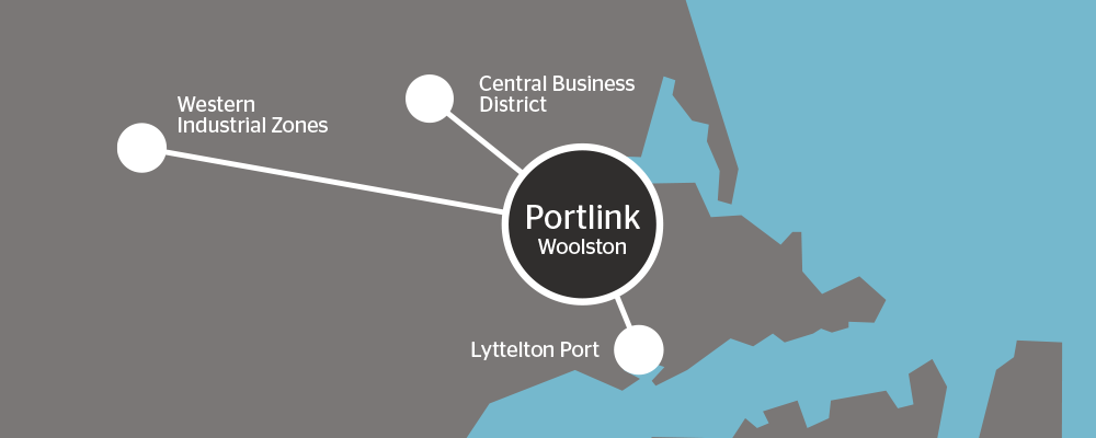 Portlink Location Map Small