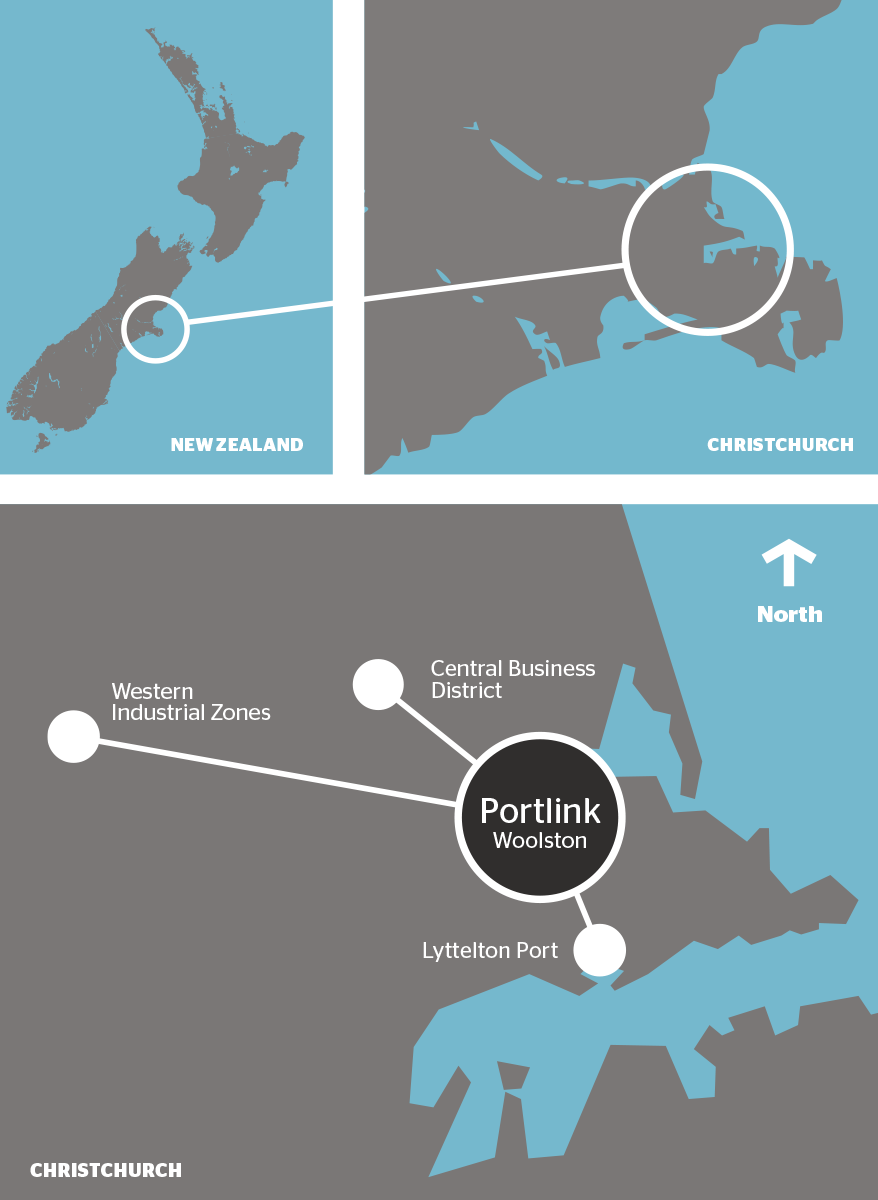 Portlink location map