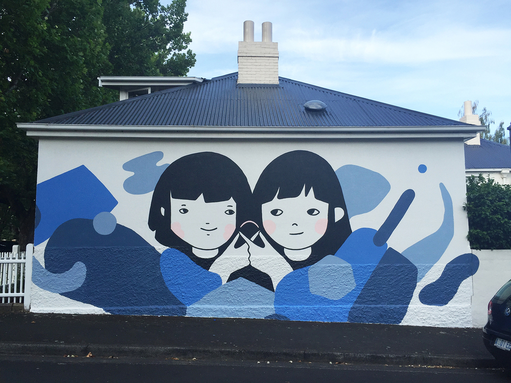 A mural collaboration with ghostpatrol (David Booth).