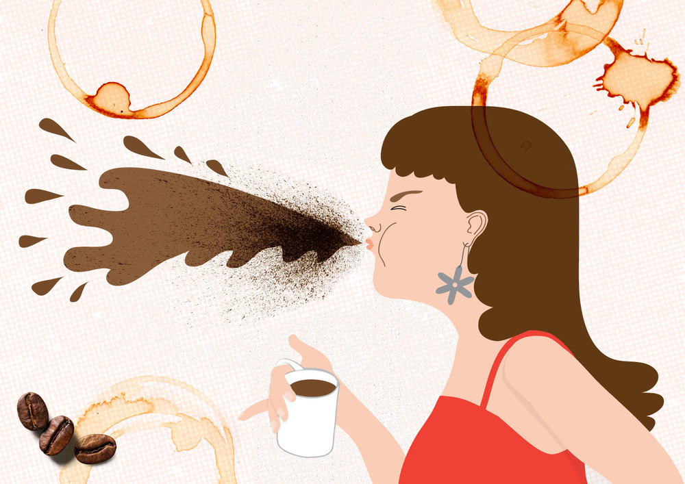 I Won't Apologise For Not Drinking: The Coffee Edition. Illustration by Alice Oehr.