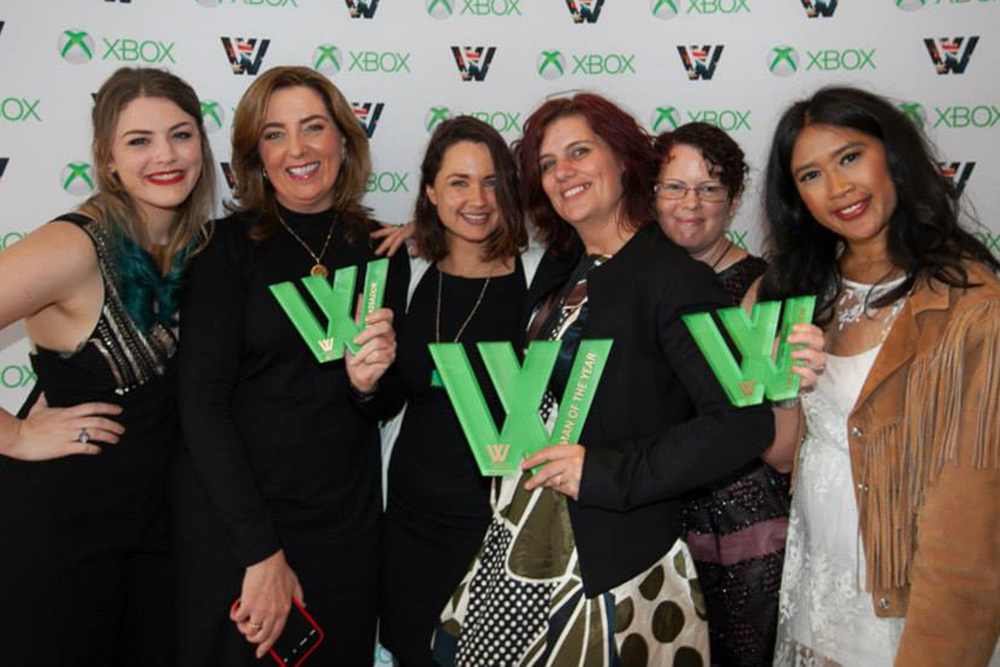 Chillin' with the babin' winners of MCV's Asia Pacific 2015 Women in Games Awards.  Photo credit: Thomas E. Graham