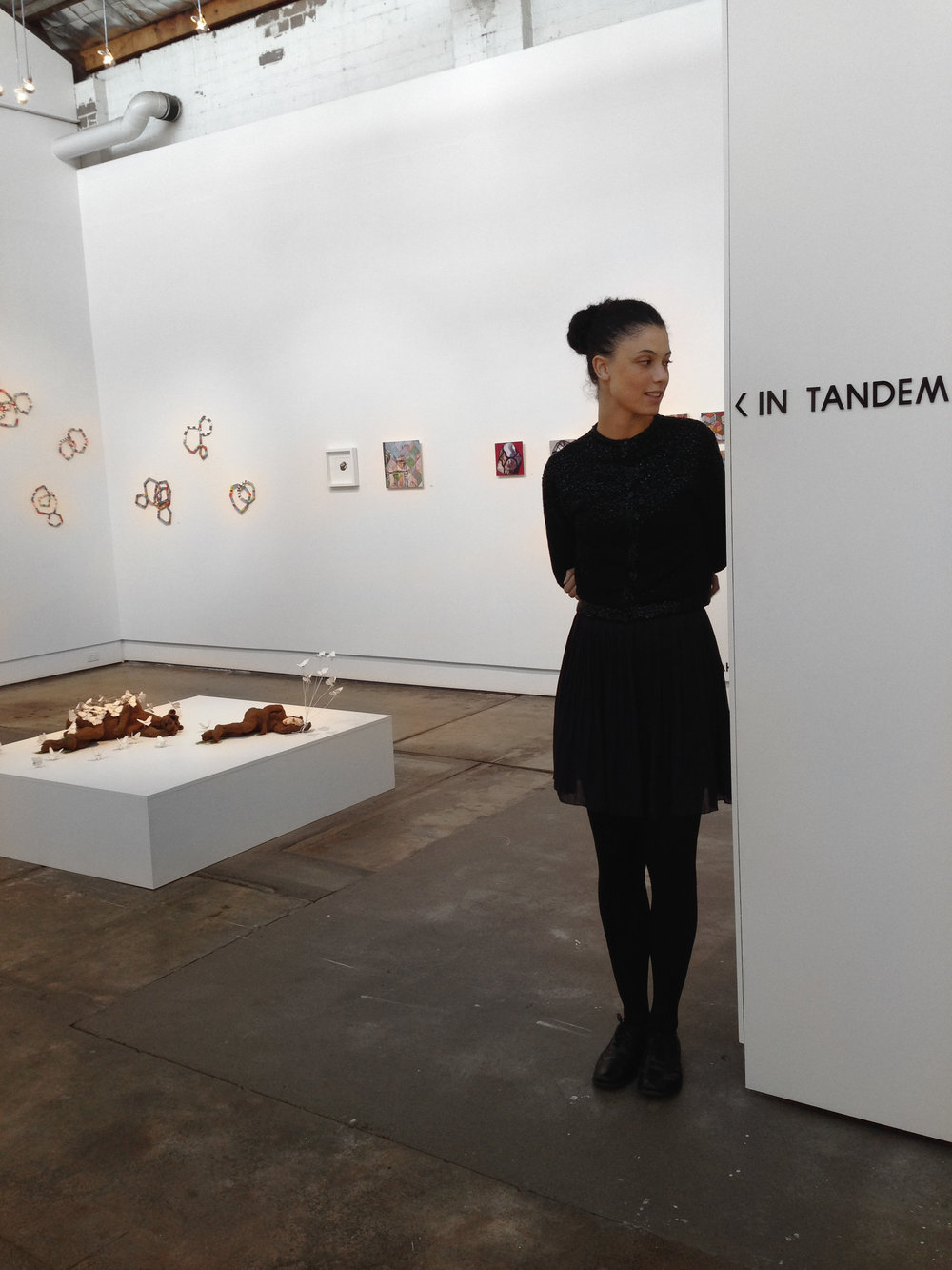 'In Tandem' 2014, installation view, Brenda May Gallery, Sydney. Curated by Olivia Welch. Image courtesy of the Artists and MAY SPACE, Sydney.