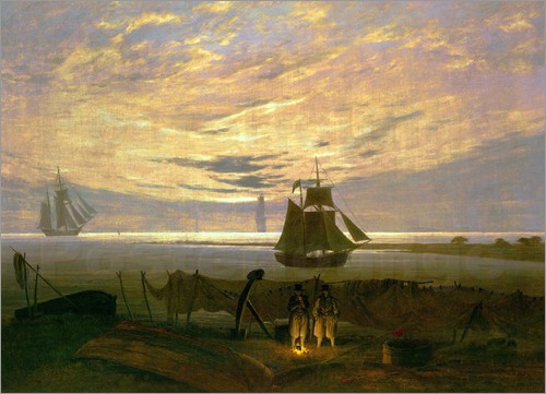 """Evening at the Baltic Sea""- Caspar David Friedrich"