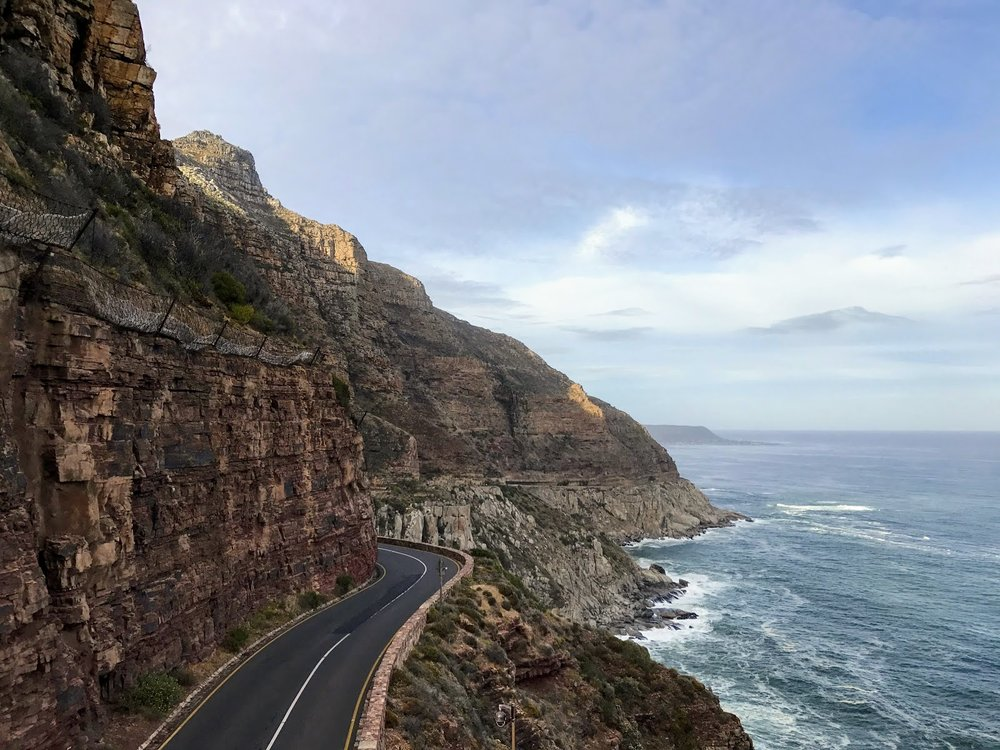Chapman's Peak on the way to Cape Point.