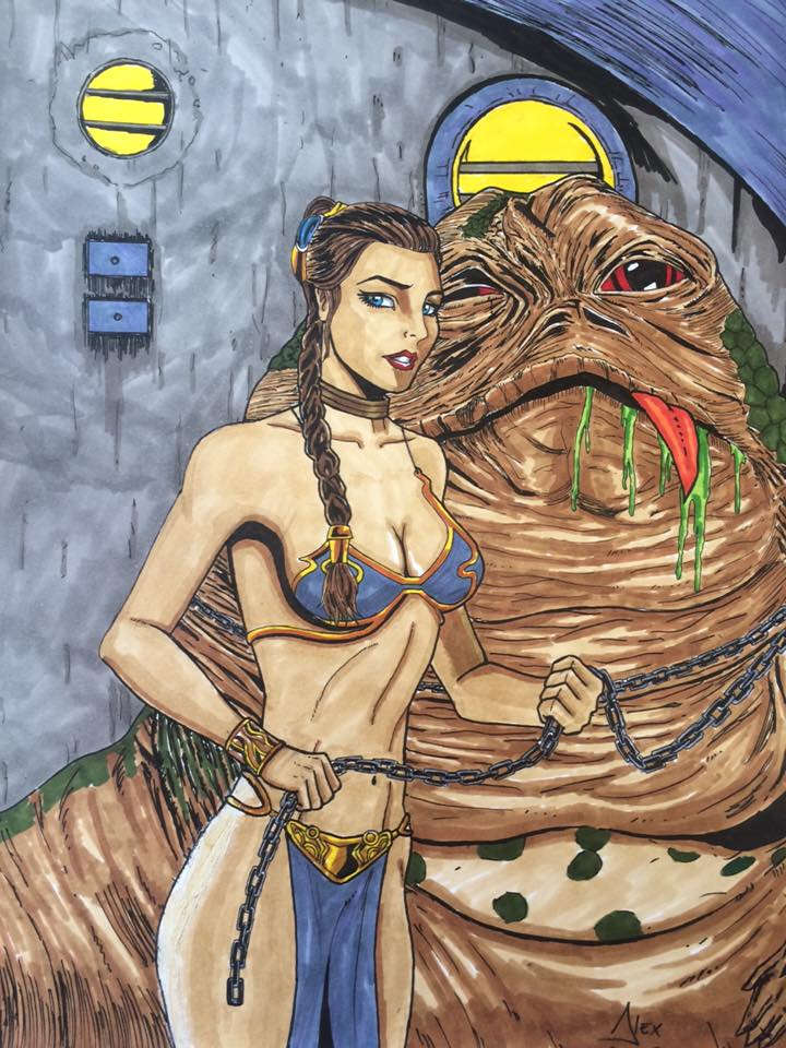 Alex Yi Jabba and Slave Leia.jpg