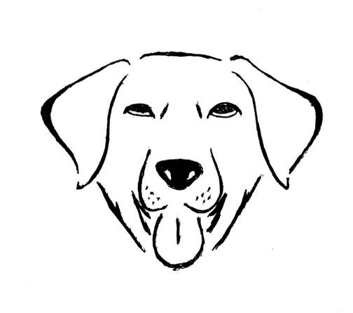 Bark Gallery logo, hand drawn prior to digitizing.