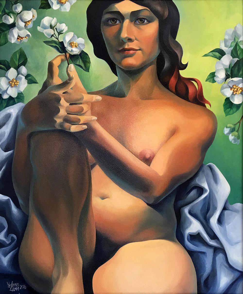 "Jasmine Oil on Canvas, 20""x24"", 2016"