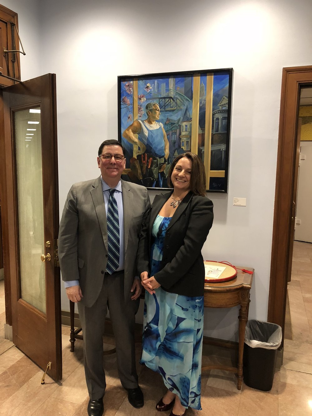 In the Mayor's office with Bill Peduto, Mayor of Pittsburgh