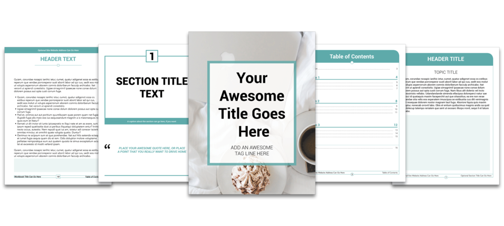 Indesign templates viayuri start your side hustle for Workbook template indesign