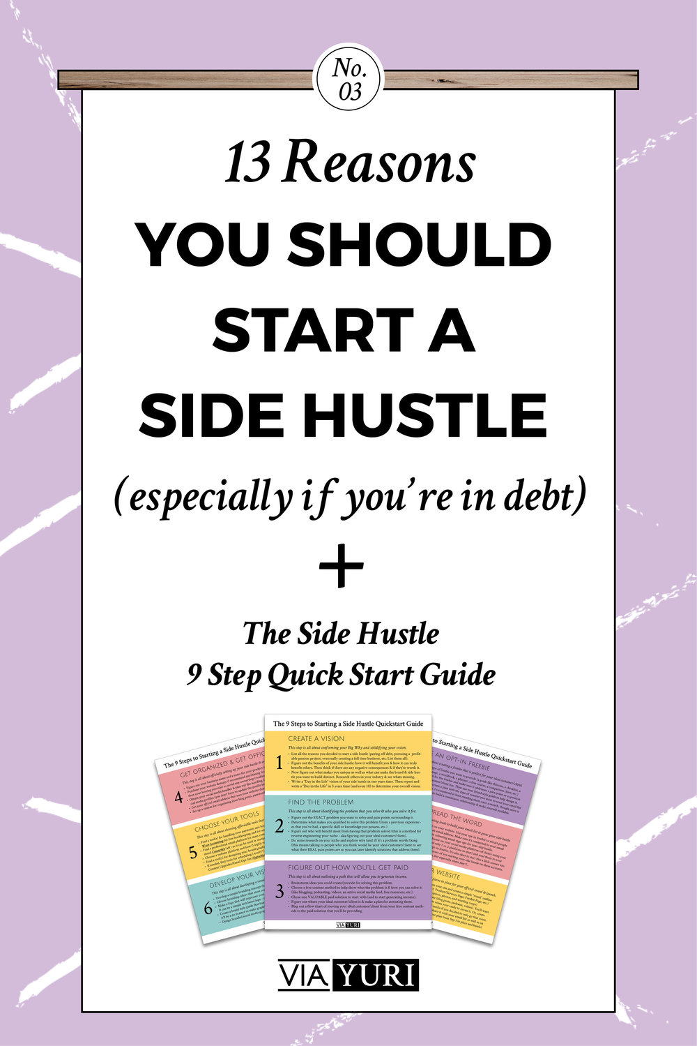13 Reasons People in Debt Should Start a Side Hustle - a super in depth post full of ideas & thoughts you may never have thought of... | viaYuri.com