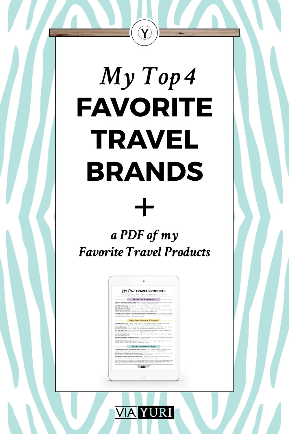 My Top 4 Favorite Travel Brands - aka the Brands & Products that I feel are worth the hype & money | viaYuri.com