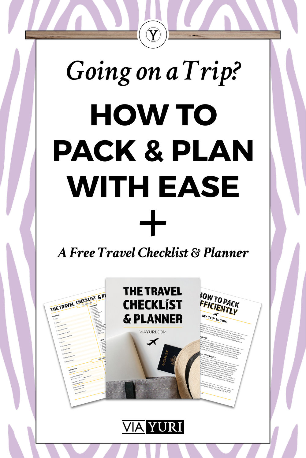 Learn How To Plan & Pack with Ease for any vacation, weekend getaway, or special trip + Get t he FREE TRAVEL CHECKLIST & PLANNER & get out the brief video!