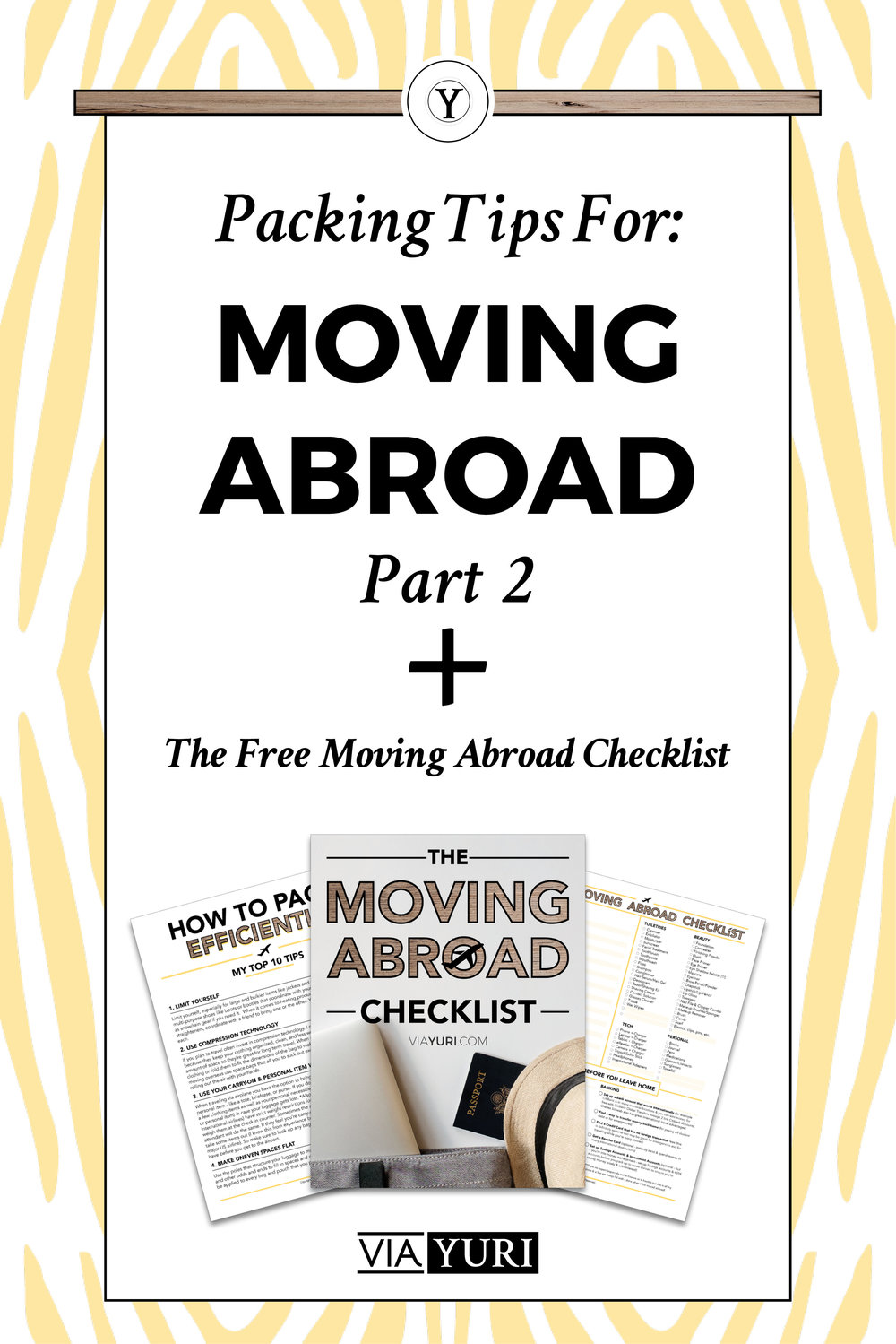 How to Pack Efficiently: Packing Tips for Moving Abroad. Plus check out Part 2 of the video series on how to pack efficiently and get the FREE TRAVEL CHECKLIST & PLANNER!