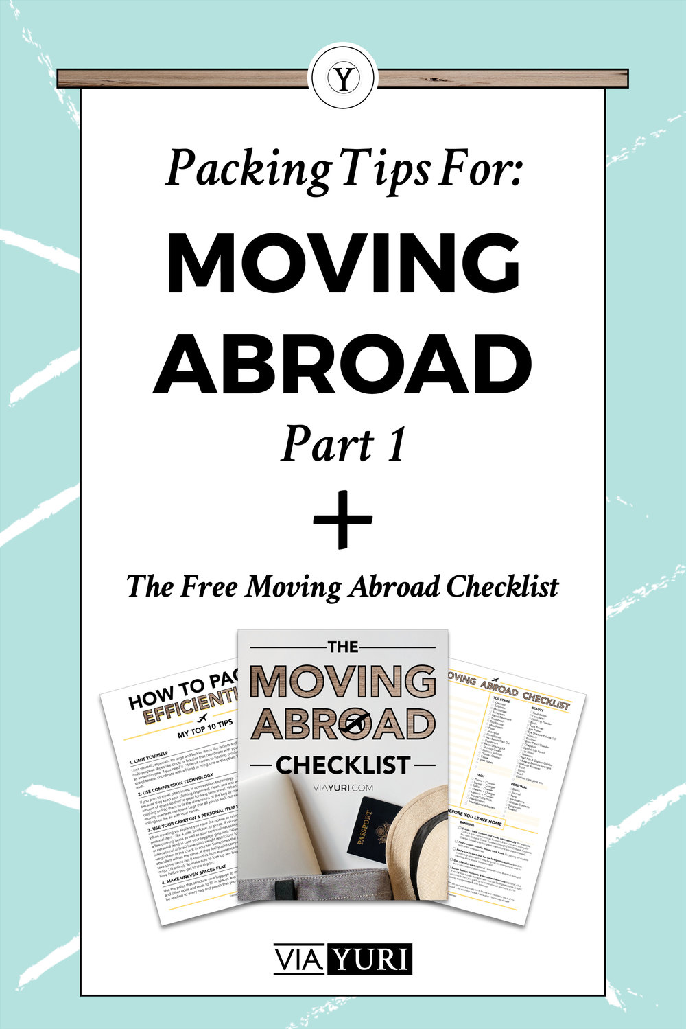 How to Pack Efficiently: 10 Packing Tips for Travelers & for Moving Abroad. Plus check out Part 1 of the video series on how to pack efficiently and get the FREE TRAVEL CHECKLIST & PLANNER! | viaYuri.com