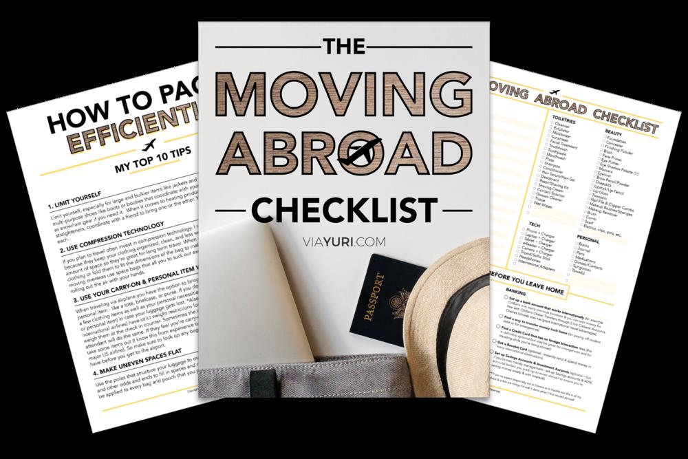 The Moving Abroad Checklist via Yuri Gibson of viaYuri.com