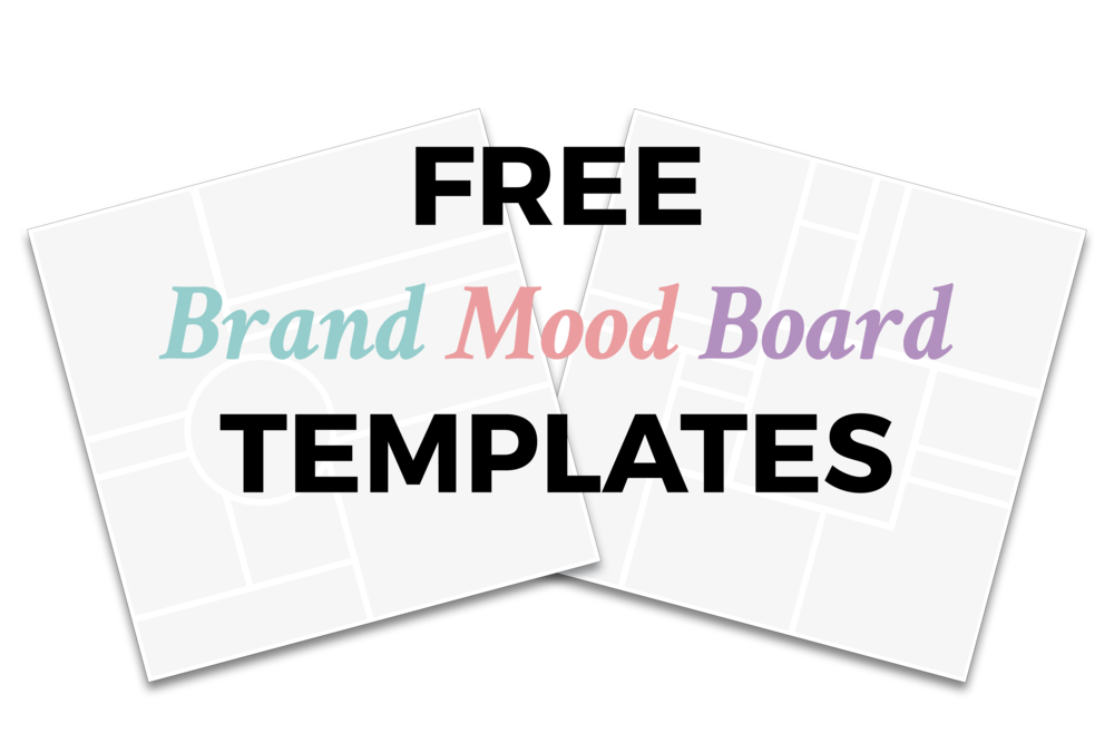Free Brand Mood Board Templates for inspiration & brand clarity | viaYuri.com